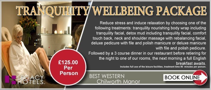 BEST WESTERN CHILWORTH MANOR HOTEL Southampton Tranquility DBB