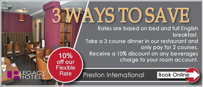 PRESTON INTERNATIONAL HOTEL Preston 3 for 2
