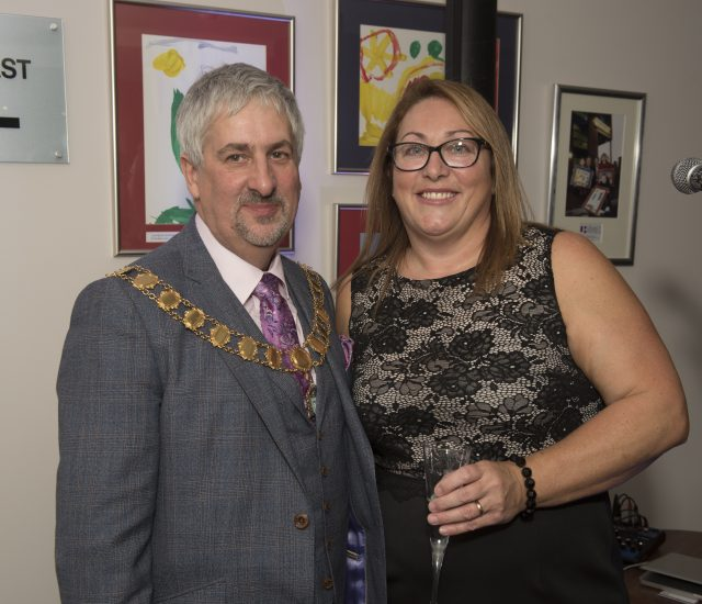 10th Anniversary - The Mayor of Preston, Councillor Trevor Hart and general manager, Bernadette Plumb